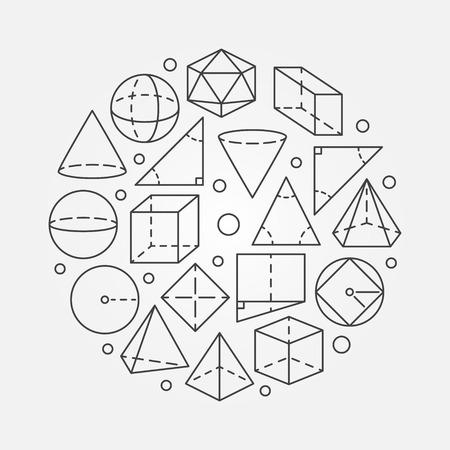 Geometry mathematics illustration Ilustração