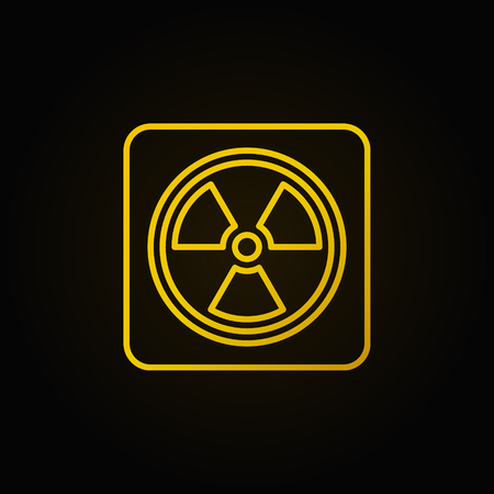 radioactive sign: Radiation concept linear yellow icon