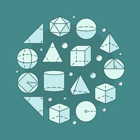 Trigonometry circular illustration