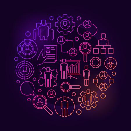 Human resources heldere illustratie Stock Illustratie