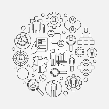 Human resources outline illustration