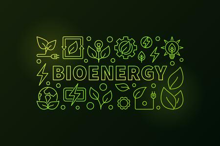 Bioenergy banner Çizim