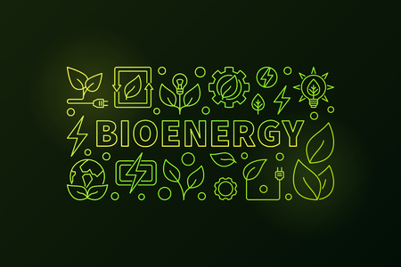 Bioenergy banner Illustration