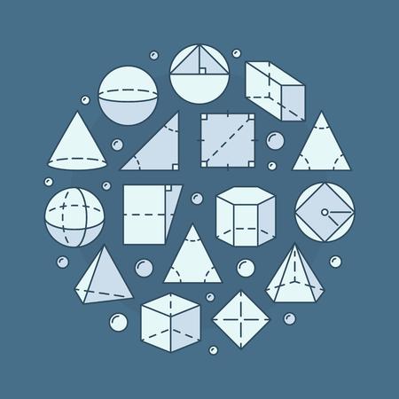 Geometry and mathematics illustration