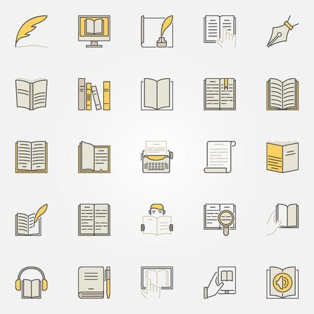 Literature colorful icons set Ilustrace