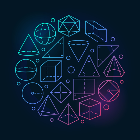 Geometry mathematics colorful illustration