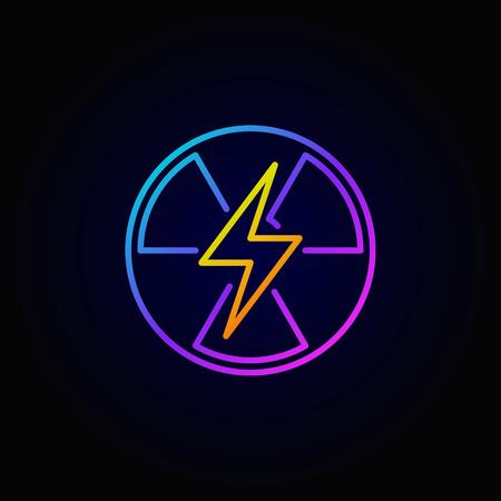 Puissance nucléaire icône colorée