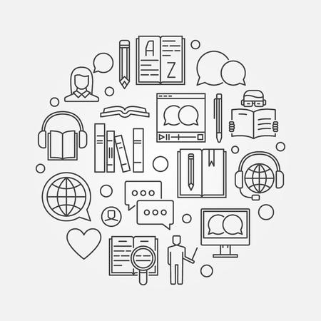 Het leren van talen om illustratie