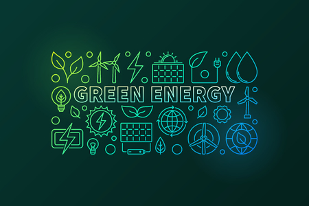Green Energy vector banner