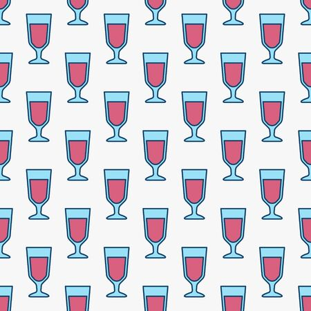 Colorful red wine glasses pattern Illustration