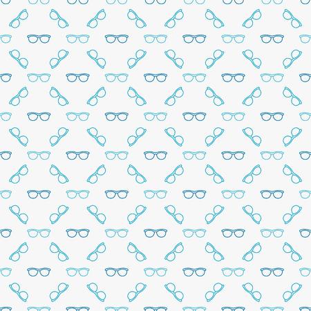 Glasses blue seamless pattern