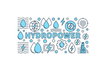 Hydropower minimal banner