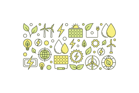 Eco energy creative illustration