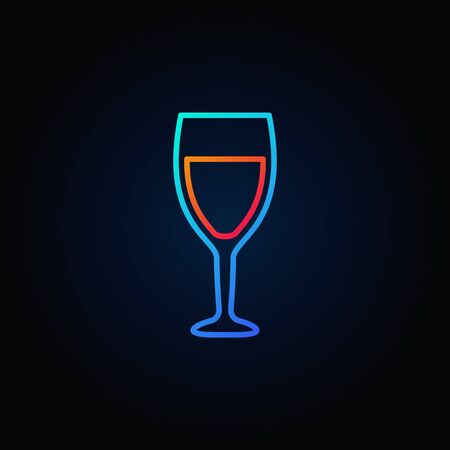 Wine glass colorful icon