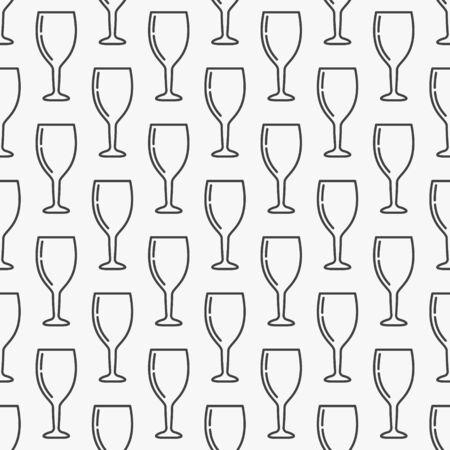 Wine glass seamless pattern
