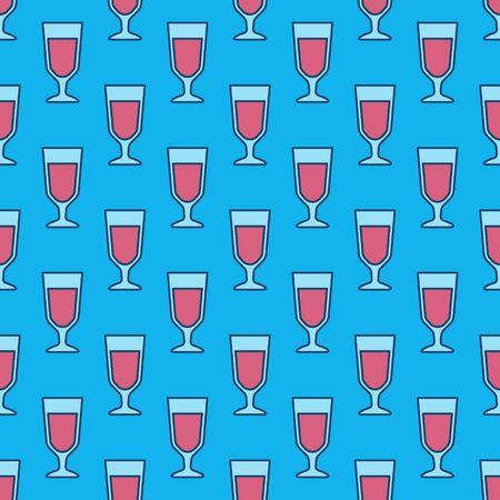 Colorful wine glass pattern