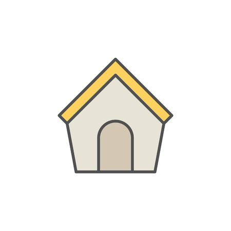 doghouse: Doghouse colorful icon