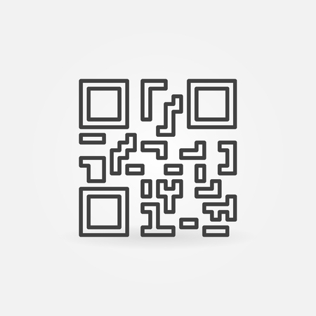 QR code concept vector icon or symbol Illustration
