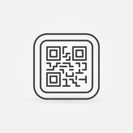 QR Code modern vector icon or symbol