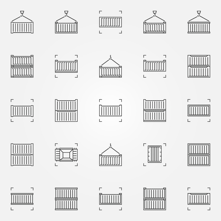 Set of container icons. Stock Vector - 88629964