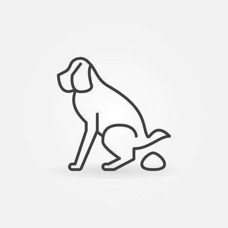 Dog pooping icon