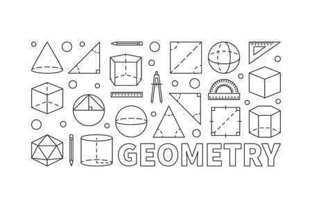 Geometrie vector concept lijn horizontale banner Stock Illustratie