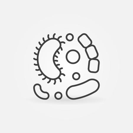 Viruses vector simple line icon