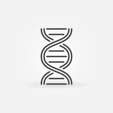 DNA structure vector icon in thin line style Illustration