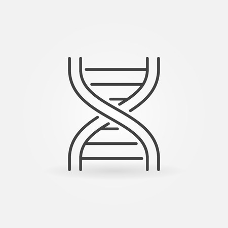 DNA strand abstract icon or symbol in thin line style Illustration