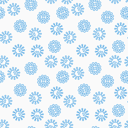 Virus or bacteria vector seamless pattern