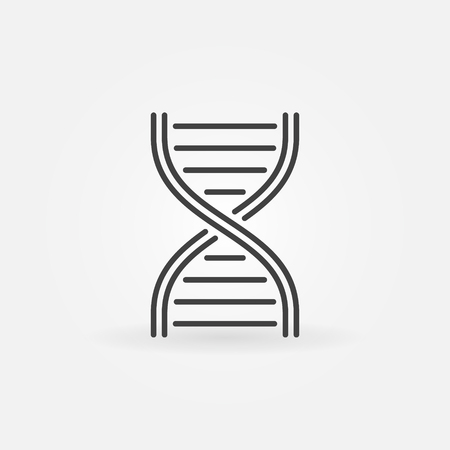 Vector DNA structure line icon