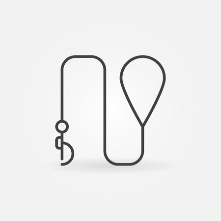 Leash icon illustration. Vettoriali