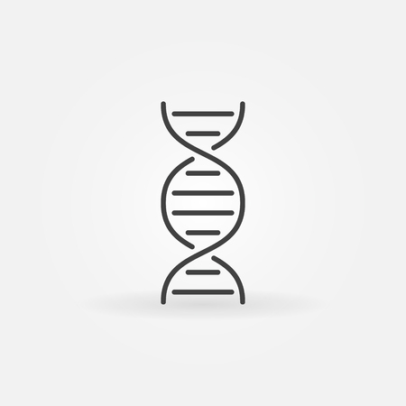 DNA concept icon in outline style. Illustration