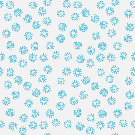 Blue bacteria creative pattern.