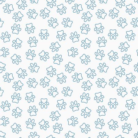Paw print line  pattern.