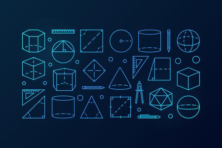 Geometry vector blue background illustration.