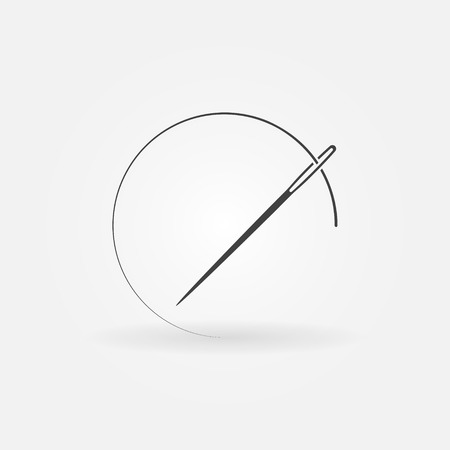 Needle and thread icon or design element.