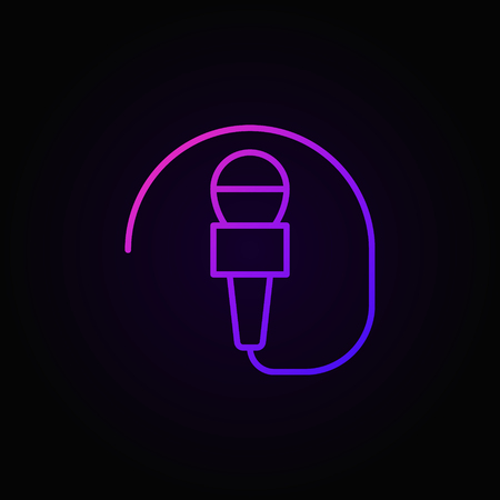 Wired mic vector concept colorful icon or symbol