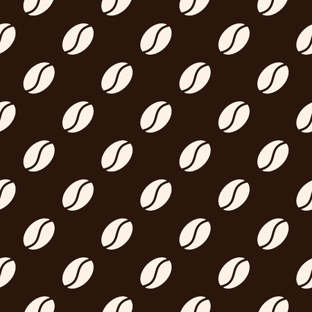 Seamless pattern with coffee beans. Vector texture Illustration