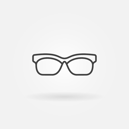 Glasses outline icon. Vector sunglasses symbol or design element in thin line style
