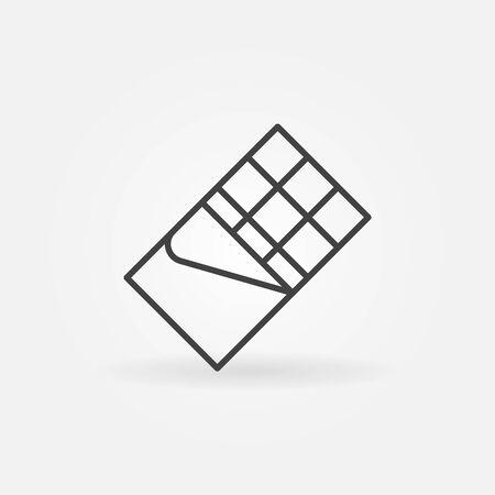 Chocoladereep vector concept pictogram of ontwerp-element in dunne lijnstijl