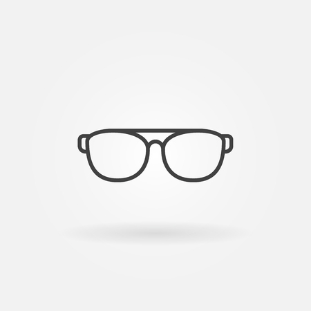Sunglasses or glasses vector minimal icon or symbol in thin line style Illustration