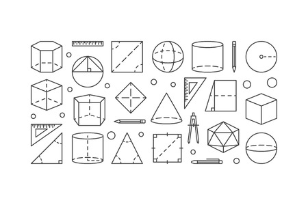 Geometry shapes vector concept illustration