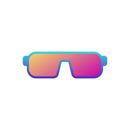 Glasses or sunglasses colored vector icon or symbol on white background Illustration