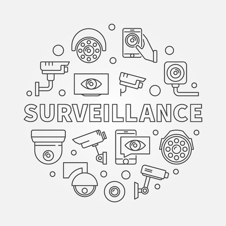 Surveillance vector illustration. Video security symbol