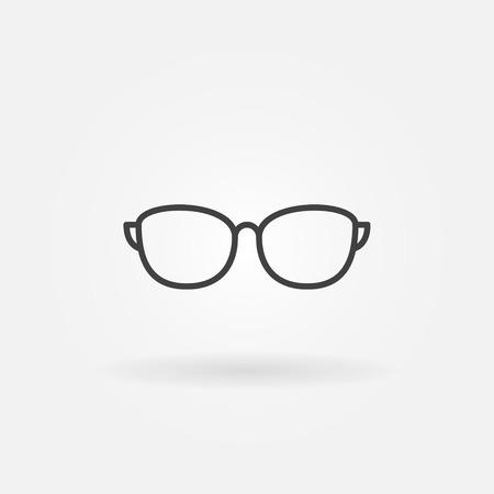 Sunglasses outline vector icon or design element