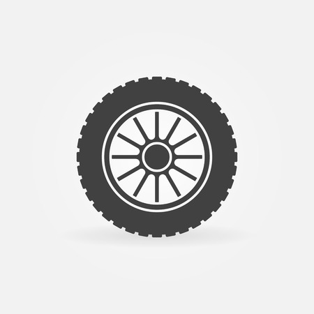 Vector car wheel creative icon element