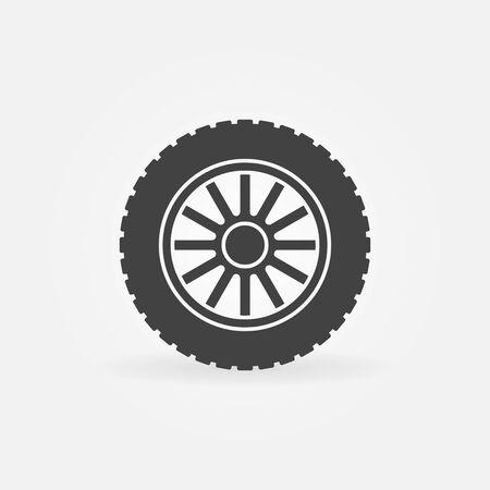 Car wheel disc vector icon or symbol illustration.