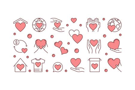 Donation vector creative illustration or banner.