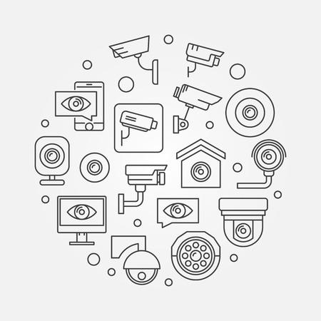Video surveillance symbol. Vector CCTV illustration Stock Vector - 97936204